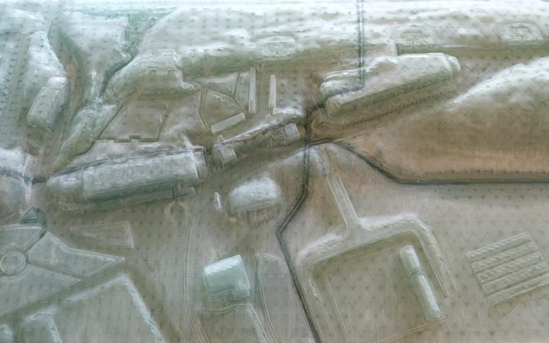 Geprinte plug voor betonmal