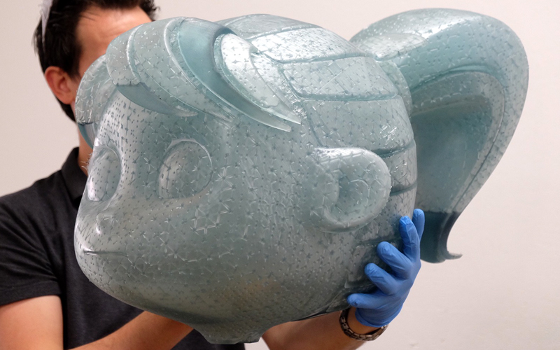 Printed large figure head